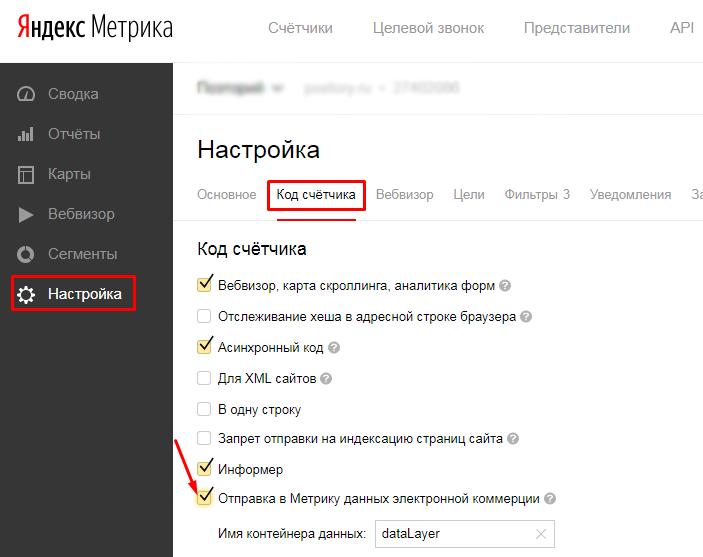 Настраиваем ecommerce в Яндекс.Метрике